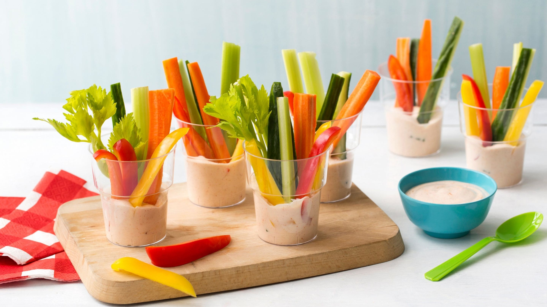 Grønnsaker med Kesam®-dipp
