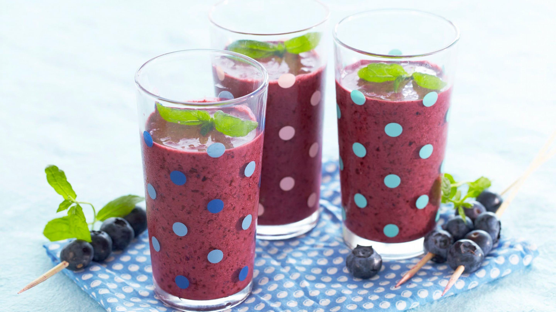 Smoothie kjølig blåbær
