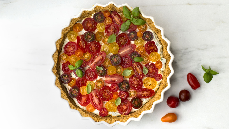 No-bake pai med tomat