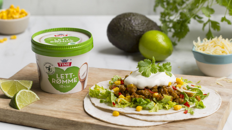 Vegetartaco med guacamole