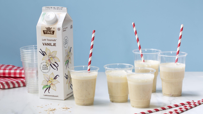 Milkshake med vaniljemelk og banan