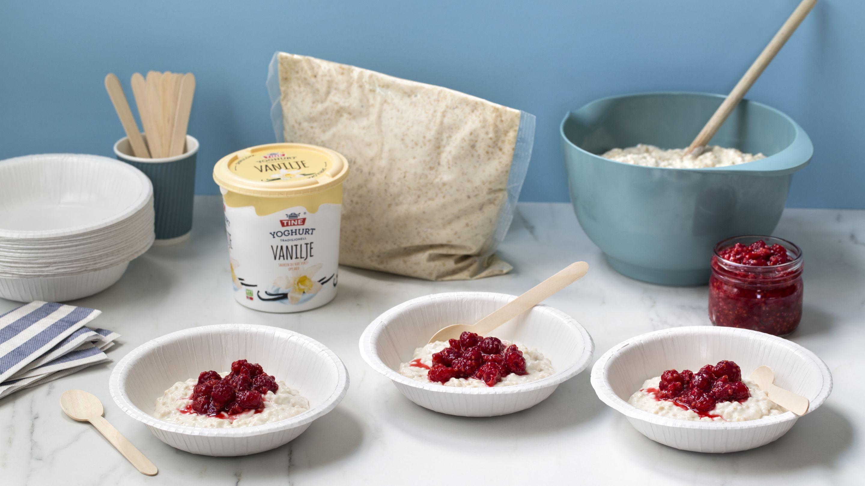 Havregrøt med vanilje yoghurt
