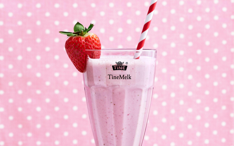 Milkshake med jordbær