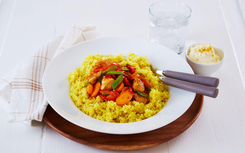 Sprø kylling med couscous