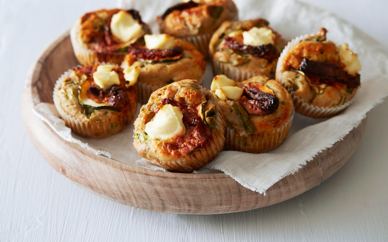 Matmuffins med spinat og chevre