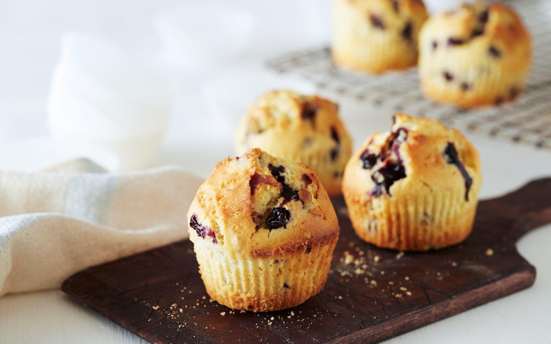 Blåbærmuffins med kefir