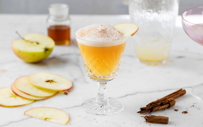 Eple- og kanelmocktail (virgin appletini)