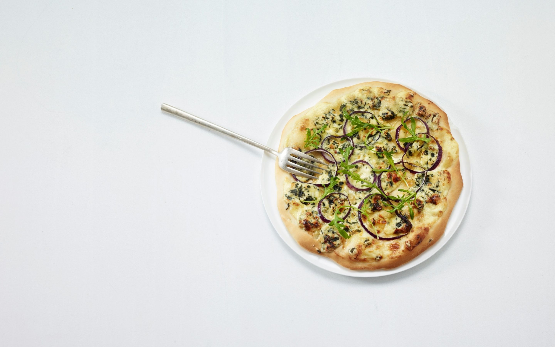 Hvit pizza med Norzola