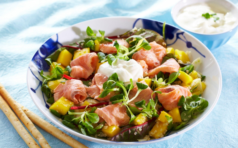 Salat med ceviche og koriander