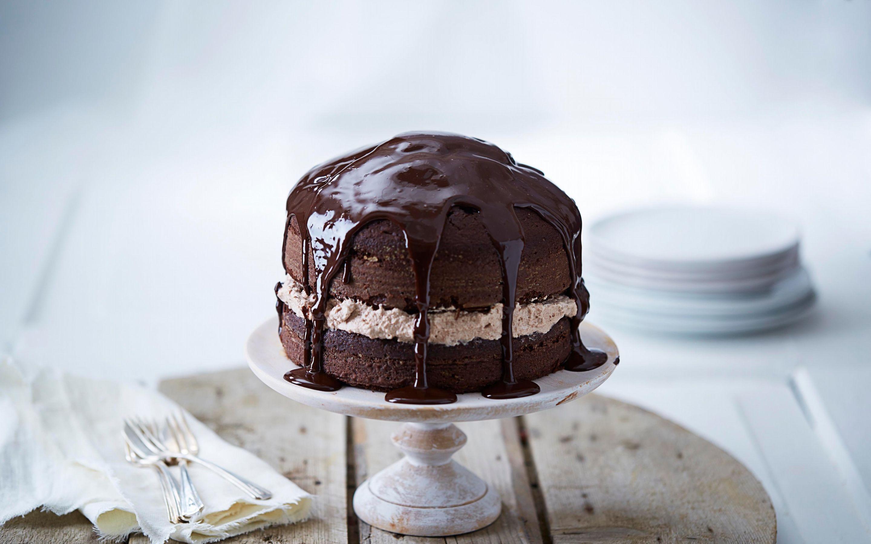 Sjokoladekake med sjokoladekrem