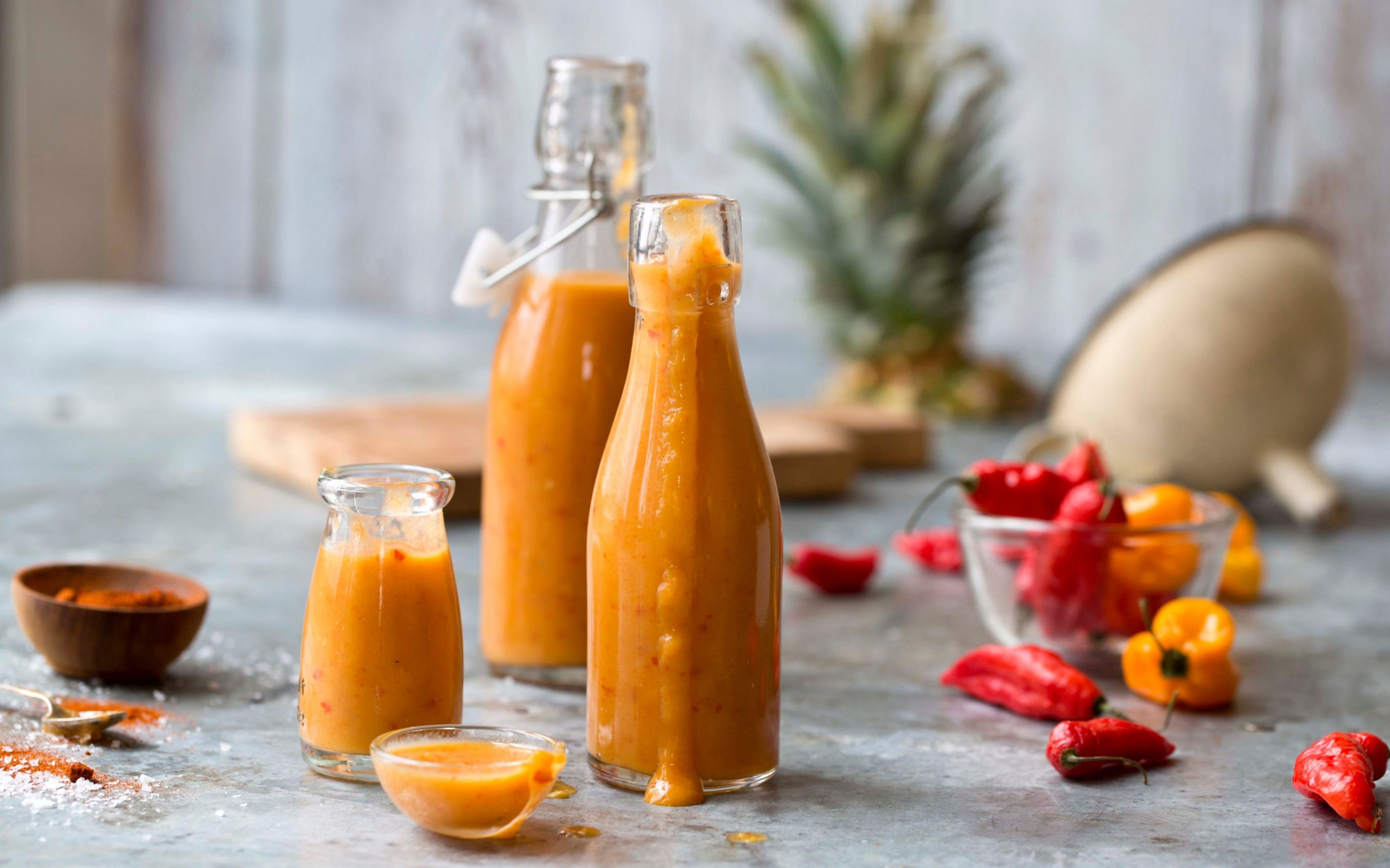 Ghost pepper chilisaus med mango