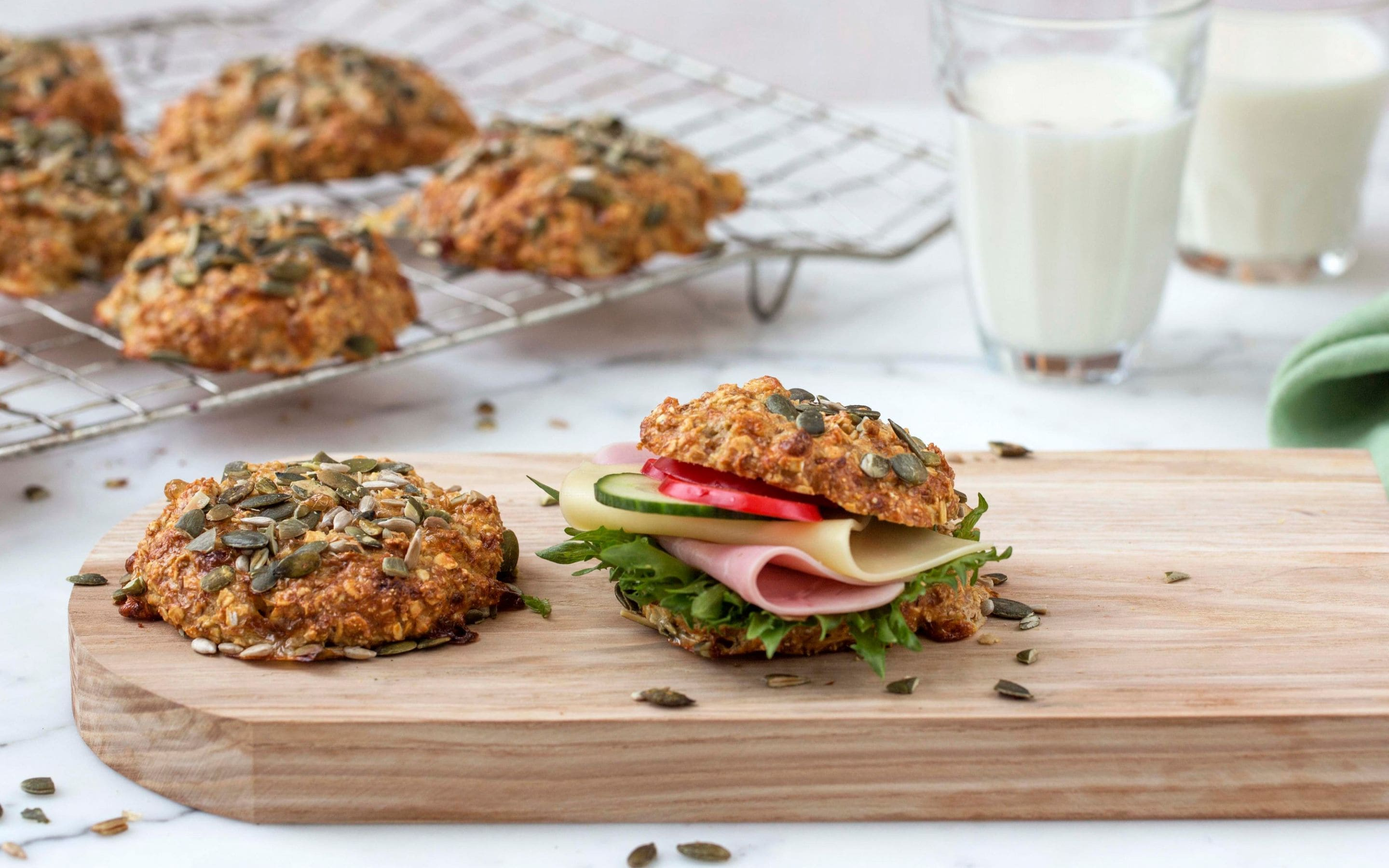 Protein-scones med cottage cheese