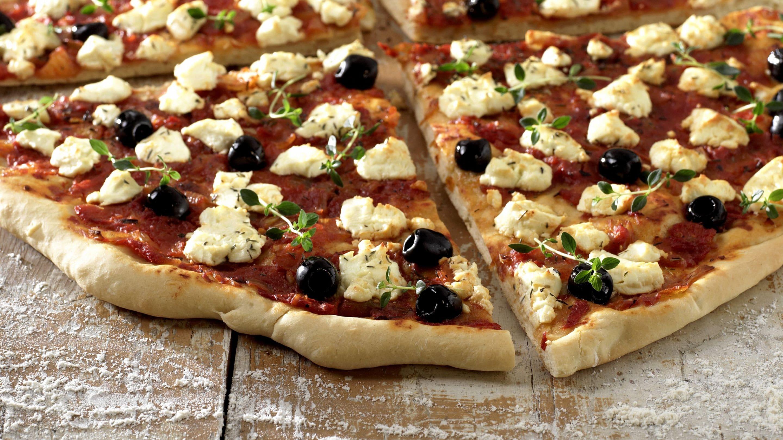 vegetarisk pizza chevre