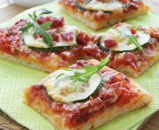 Pepperonipizza med squash