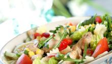 Oppskrift på Kylling- og pastasalat