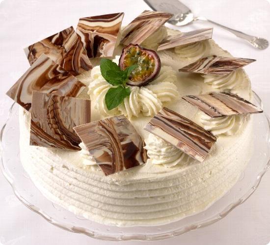 Bløtkake med marmorerte sjokoladeruter