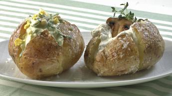 Fylte bakte poteter
