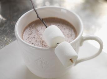 Varm sjokolade med marshmallows