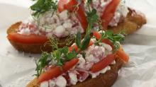 Bruschetta+med+cottage+cheese