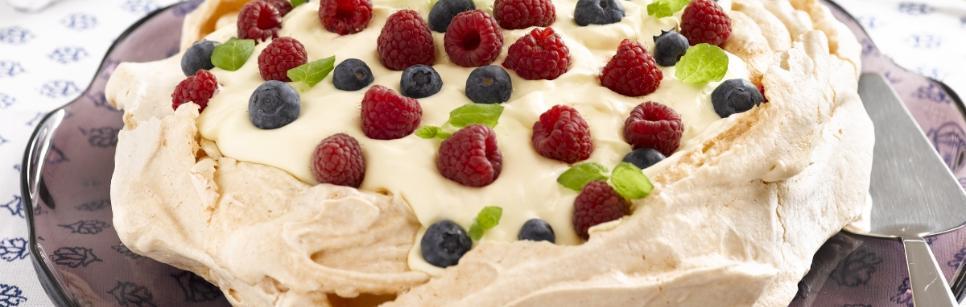 Oppskrift på dessert Pavlova kake
