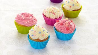 Cupcakes med kremosttopping