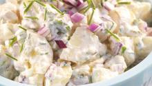 Oppskrift på lett potetsalat