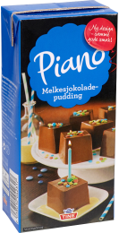 Piano Melkesjokoladepudding