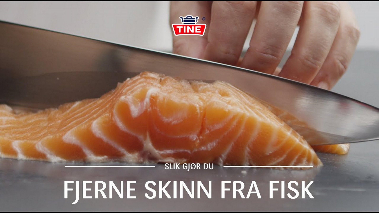 Hvordan fjerne skinnet fra fisk