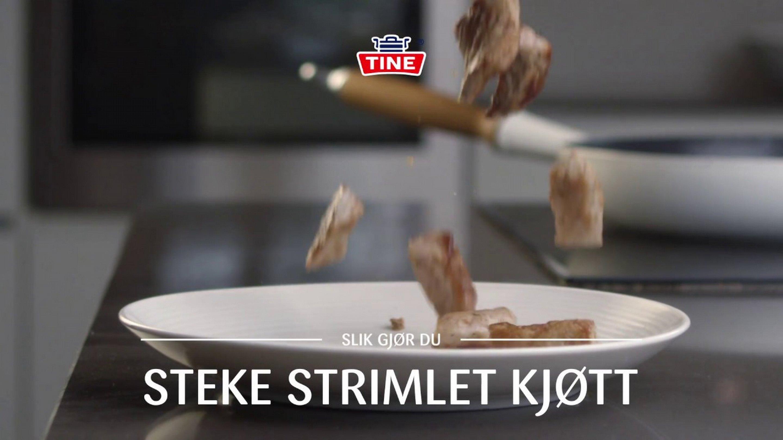 Hvordan steke strimlet kjøtt