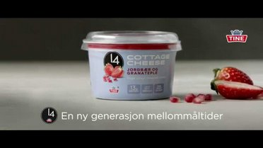 Reklamefilm 14 Cottage Cheese Jordbær og Granateple